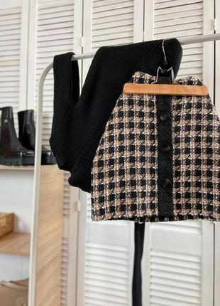 Твидовая юбка мини primark