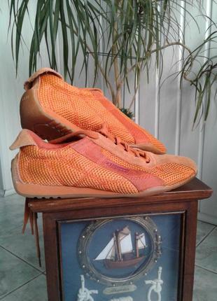 Кроссовки esprit яркие оранжевые легкие р 38