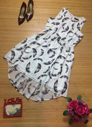 Очень красивое шифоновое платье, размер 3xl