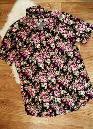 Рубашка хлопковая цветочный принт для женщины любящей элегантность и эксклюзив🎀🌸