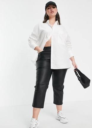 Рубашка белая женская оверсайз большого размера