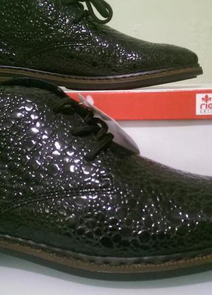 Rieker 50630 antistress. женские демисезонные ботинки черные