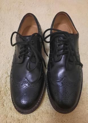 Кожаные туфли clarks оригинал