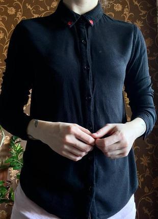 Базовая черная рубашка от forever 21