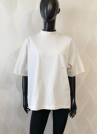 Оверсайз футболка свитшот из плотного хлопка no logo studio в стиле pangaia