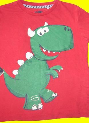 Яркий реглан с динозавром на 2-3 года,tu