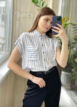 Легкая блуза рубашка из вискозы 1+1=3