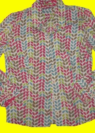 Яркая рубашка.размер 12,boden
