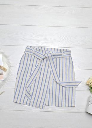 Стильна юбка в полоску на запах h&m.