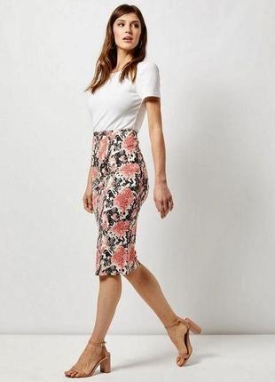 Стильная юбка миди из натуральной ткани dorothy perkins