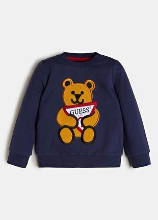 Дуже милий реглан бренду guess з ведмедиком на хлопчика 18 місяців - 5 років
