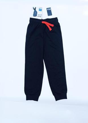 Crivit. джоггеры, спортивные штаны двунитка. 122 - 128 размер. чёрные