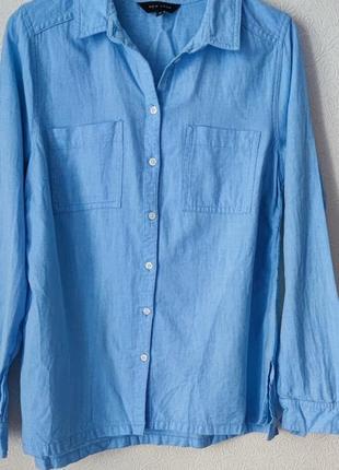Хлопковая рубашка new look 100% хлопок