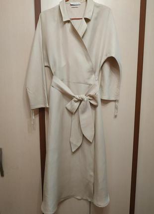 Роскошное льняное платье