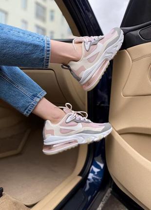 Nike air max 270 react 🍏 стильные женские кроссовки найк аир макс 270 реакт