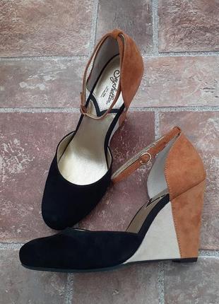 Замшевые туфли на танкетке, платформе, seychelles, обувь из сша