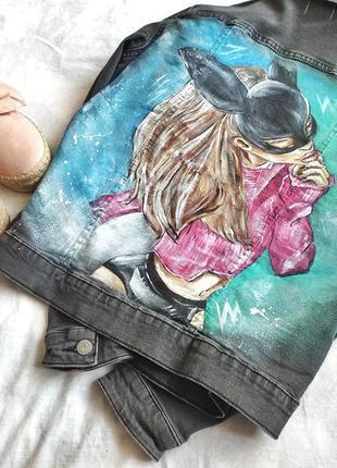 ‼️джинсовка, джинсовая куртка, джинсовый пиджак с рисунком‼️