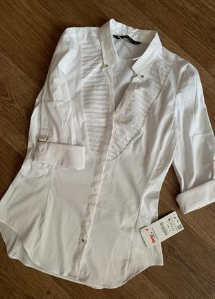 Новая рубашка белая zara