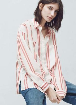 Рубашка в полоску mango