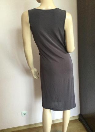 Елегантное коричневое брендовое платье от marella/ max mara/ l2 фото