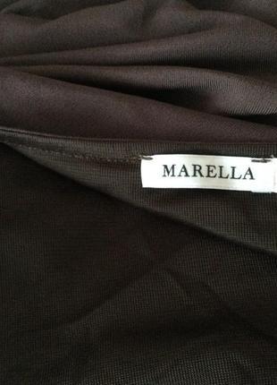 Елегантное коричневое брендовое платье от marella/ max mara/ l5 фото