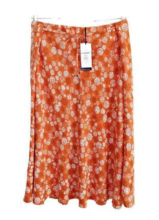 Красивая летняя юбка по косой из нежной вискозы р.22