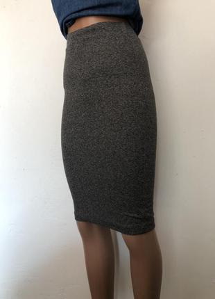 💫женская юбка карандаш серая h&m