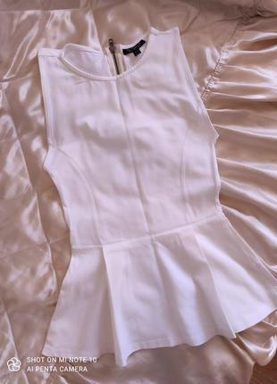 Topshop блузка футболка баска блуза топ