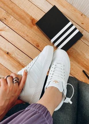 Adidas samba tripl white🆕кожаные кеды-кроссовки адидас самба🆕полностью белые