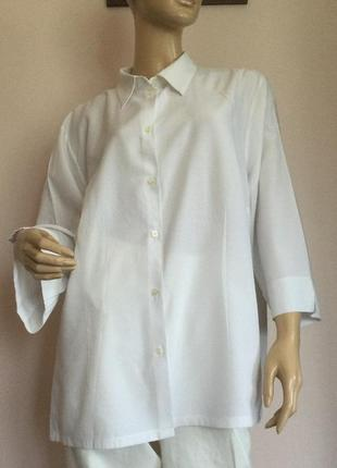 Базовая немецкая белая блузка - батал/50/brend ulla popken