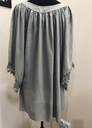 Платье/туника с кружевом италия оверсайз