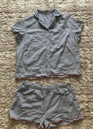 Хлопковая пижама в арбузики primark
