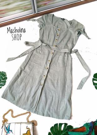 Стильное хлопковое платье на пуговках фирмы atmosphere