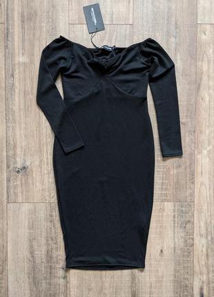 Красивое платье карандаш плаття гарне вечірнє вечернее на плечи открытые