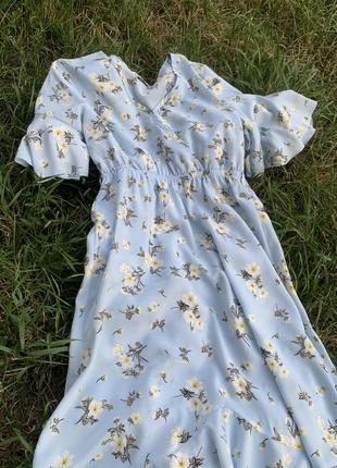 Летнее небесное платье