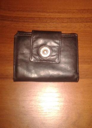 Кожаный кошелек bear design,италия 9*12