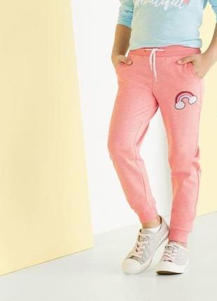 Pepperts. джоггеры, спортивные штаны двунитка. 158 - 164 размер. розовые.