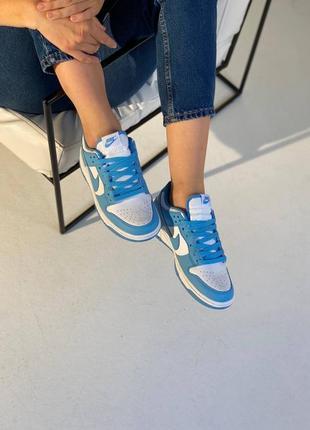 Женские кроссовки nike dunk low blue