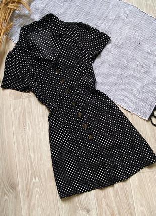 Платье в горошеĸ на пуговицах george