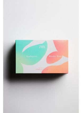 Туалетна вода в наборі для жінок zara wonder rose + applejuice 100 мл, 100 мл spring collection