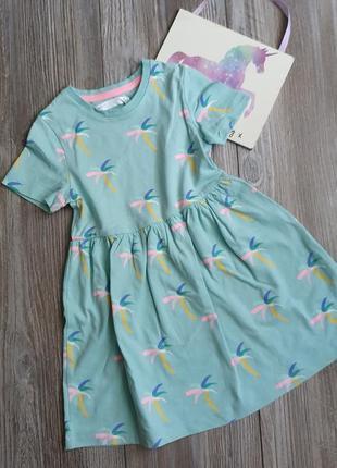 Платье с пальмами m&s 2-3г