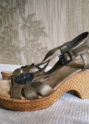 Новые босоножки rieker, красивые босоножки на платформе, сандалии, стелька 23,5 см, как ecco geox