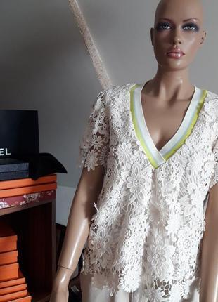 Twin-set! оригинал! шикарная блуза! в молочном цвете!