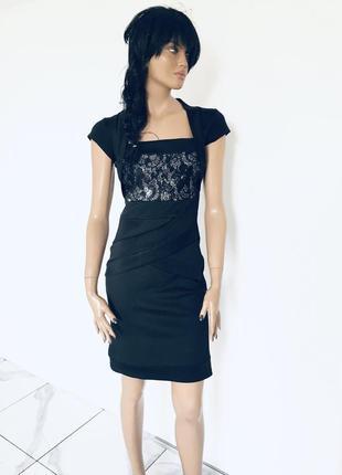 Новое безупречное платье расшитое пайетками на талии с вшитым болеро от fever fish 1+1=3 на всё 🎁