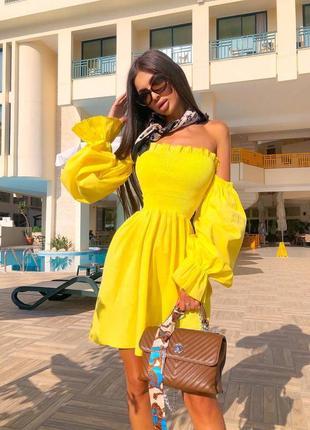 Невероятное летнее лёгкое стильное жёлтое платье 👗🌸
