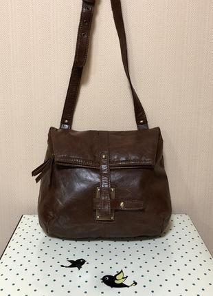 Кожаная женская сумка кросс-боди topshop. англия.