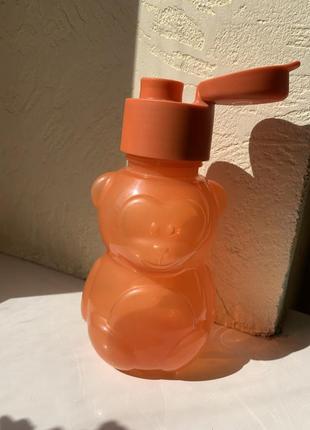 Детская бутылочка мишка, медвежонок 350 мл tupperware оранжевая