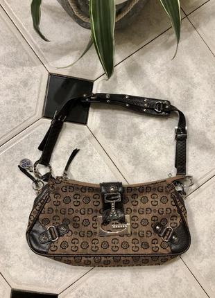 Бомбезная брендовая сумка багет gussaci/италия  оригинал 🍃