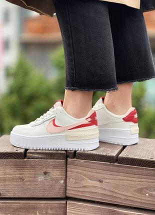 Женские кроссовки nike air force 1 shadow echo pink gym red