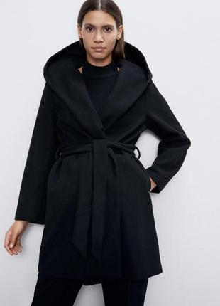 Шикарное пальто на запах zara